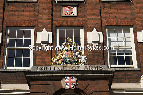 College of Arms or Heralds' College Queen Victoria Street London UK