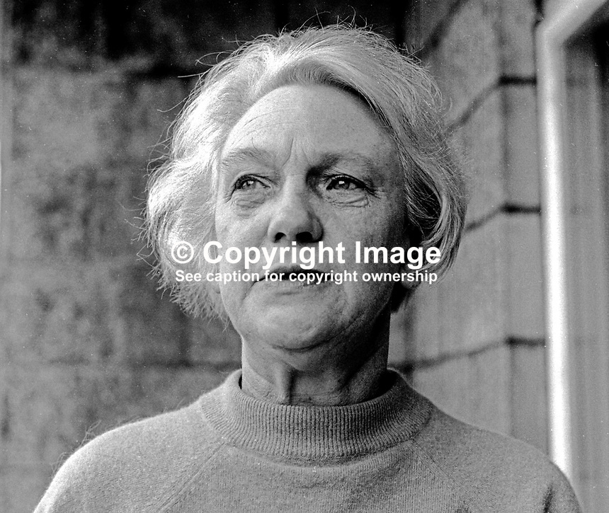 Betty Sinclair, Belfast, N Ireland, full-time secretary, Belfast &amp; District Trades Council, prominent member, Communist Party of Ireland, founder member, first chairperson, N Ireland Civil Rights Association. October 1968. 196810000232<br /> <br /> Copyright Image from Victor Patterson, 54 Dorchester Park, Belfast, UK, BT9 6RJ<br /> <br /> Tel: +44 28 9066 1296<br /> Mob: +44 7802 353836<br /> Voicemail +44 20 8816 7153<br /> Email: victorpatterson@me.com<br /> Email: victorpatterson@gmail.com<br /> <br /> IMPORTANT: My Terms and Conditions of Business are at www.victorpatterson.com