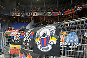31st October 2017, St Jakob-Park, Basel, Switzerland; UEFA Champions League, FC Basel versus CSKA Moscow; CSKA Moscow fans preparing for the match