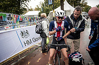 a late crash in the Junior Women road race finish straight made lots of victims and was resposible for lots of (decompression) emotions & injury checkups once behind the line...<br /> <br /> from Doncaster to Harrogate (86km)<br /> 2019 Road World Championships Yorkshire (GBR)<br /> <br /> ©kramon
