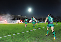 26th October 2013; Connacht run onto the pitch at the start of the match. Rabodirect Pro12, Leinster v Connacht, Royal Dublin Society, Dublin. Picture credit: Tommy Grealy/actionshots.ie.