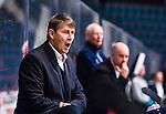 ***BETALBILD***  <br /> Stockholm 2015-09-04 Ishockey CHL Djurg&aring;rdens IF - EV Zug :  <br /> Djurg&aring;rdens tr&auml;nare Hans S&auml;rkij&auml;rvi reagerar under matchen mellan Djurg&aring;rdens IF och EV Zug <br /> (Foto: Kenta J&ouml;nsson) Nyckelord:  Ishockey Hockey CHL Hovet Johanneshovs Isstadion Djurg&aring;rden DIF Zug portr&auml;tt portrait tr&auml;nare manager coach