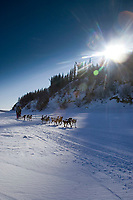 Rick Swenson on the Yukon river shortly before the Anvik checkpoint