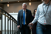 United States Representative Mark Meadows (Republican of North Carolina) departs the closed-door testimony of Jennifer Williams, a national security aide to Vice President Mike Pence, at the U.S. Capitol in Washington D.C., U.S., on Thursday, November 7, 2019. Credit: Stefani Reynolds / CNP /MediaPunch<br /> CAP/MPI/CNP/SR<br /> ©SR/CNP/MPI/Capital Pictures