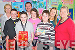 Philip O'Connor, Beaufort Tidy Villages committee, pictured with the winners of their  Easter anti-litter slogan competition in the Black Valley National School, Beaufort. Pictured with him are Ben O'Shea, Amy Switzer, Louise Doyle and John O'Donoghue, teachers Janice Gaine, Alison Tuohy and Maureen Finnegan...