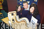 INVENTING: Marliza O'Dwyer, Patrick Dineen and Katie Falvey from Causeway Comprehensive school presented their project for detecting carbon monoxide levels in homes at the annual SciFest Science and Technology Fair held in the ITT on Tuesday.