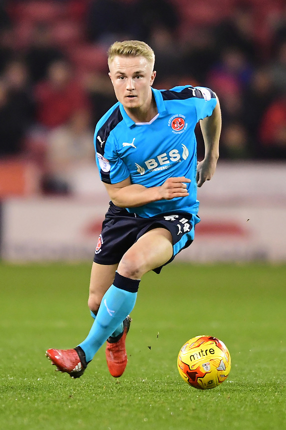 Fleetwood Town's Kyle Dempsey<br /> <br /> Photographer Chris Vaughan/CameraSport<br /> <br /> The EFL Sky Bet League One - Sheffield United v Fleetwood Town - Tuesday 24th January 2017 - Bramall Lane - Sheffield<br /> <br /> World Copyright &copy; 2017 CameraSport. All rights reserved. 43 Linden Ave. Countesthorpe. Leicester. England. LE8 5PG - Tel: +44 (0) 116 277 4147 - admin@camerasport.com - www.camerasport.com