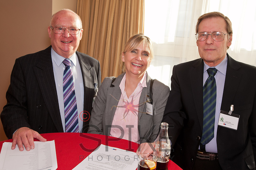 Pictured from left are Ron Glen, Bridgette Peach of Languages for Life and Roger Childs of Jalepeno Business Services