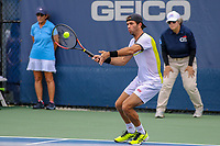 Washington, DC - August 3, 2019:  Jean-Julien Rojer (NED) scores a point during the  Men Doubles semi finals at William H.G. FitzGerald Tennis Center in Washington, DC  August 3, 2019.  (Photo by Elliott Brown/Media Images International)