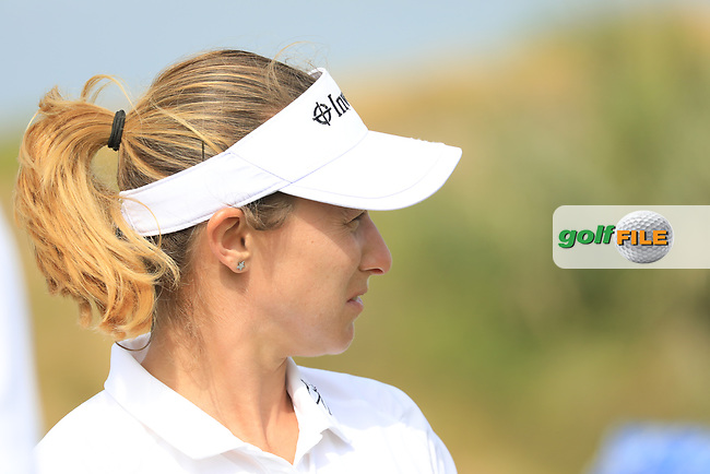 Stacy Lee Bregman (RSA) during the first round of the Fatima Bint Mubarak Ladies Open played at Saadiyat Beach Golf Club, Abu Dhabi, UAE. 10/01/2019<br /> Picture: Golffile | Phil Inglis<br /> <br /> All photo usage must carry mandatory copyright credit (&copy; Golffile | Phil Inglis)