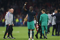 Moussa Sissoko of Tottenham Hotspur celebrates reaching the Champions League final after AFC Ajax vs Tottenham Hotspur, UEFA Champions League Football at the Johan Cruyff Arena on 8th May 2019