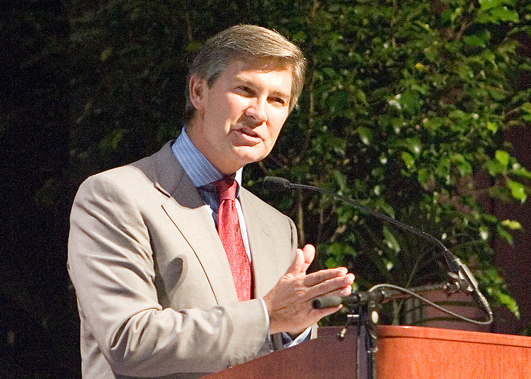 Kenneth Lowe, president and CEO of THe E.W. Scripps Company, speaks during the Scripps College of Communication Celebration.