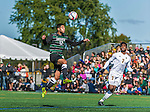 3 October 2015: Binghamton University Bearcat Backfielder Shervin Mohajeri (12), a Junior from London, England, in action against the University of Vermont Catamounts at Virtue Field in Burlington, Vermont. The Bearcats held on to defeat the Catamounts 2-1 in America East conference play. Mandatory Credit: Ed Wolfstein Photo *** RAW (NEF) Image File Available ***