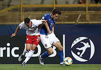 Football: Uefa under 21 Championship 2019, Italy -Poland, Renato Dall'Ara stadium Bologna Italy on June19, 2019.<br /> Italy's Federico Chiesa (r) in action with Poland's Konrad Michalak (l) during the Uefa under 21 Championship 2019 football match between Italy and Poland at Renato Dall'Ara stadium in Bologna, Italy on June19, 2019.<br /> UPDATE IMAGES PRESS/Isabella Bonotto