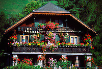Swiss chalet, Chateau d'Oex, Switzerland