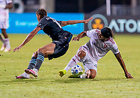 17th July 2020, Orlando, Florida, USA;  Real Salt Lake defender Ashtone Morgan (3) gets fouled during the MLS Is Back Tournament between the Real Salt Lake versus Minnesota United FC on July 17, 2020 at the ESPN Wide World of Sports, Orlando FL.
