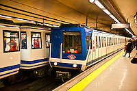 Metro train car, Madrid, Spain