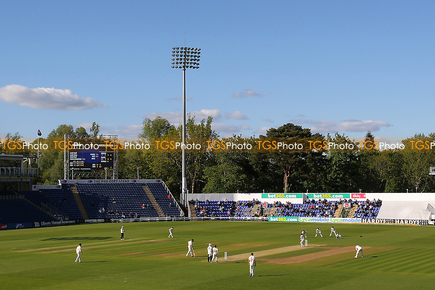 General view of play late on Day Three - Glamorgan CCC vs Essex CCC - LV County Championship Division Two Cricket at the SWALEC Stadium, Sophia Gardens, Cardiff, Wales - 20/05/15 - MANDATORY CREDIT: TGSPHOTO - Self billing applies where appropriate - contact@tgsphoto.co.uk - NO UNPAID USE