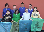 Presentation Secondary School, Miltown students  who took part in An Taisce Clean-Up of  the Miltown Area . The event was organised by the Student<br />Council and  first  Year students.