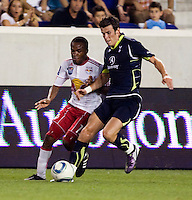 Dane Ricards, Gareth Bale. Tottenham defeated the New York Red Bulls, 2-1.