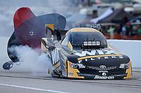 Apr. 26, 2013; Baytown, TX, USA: NHRA funny car driver Tony Pedregon during qualifying for the Spring Nationals at Royal Purple Raceway. Mandatory Credit: Mark J. Rebilas-