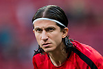Filipe Luis of Atletico de Madrid in training prior to the La Liga 2017-18 match between Atletico de Madrid and Athletic de Bilbao at Wanda Metropolitano  on February 18 2018 in Madrid, Spain. Photo by Diego Souto / Power Sport Images
