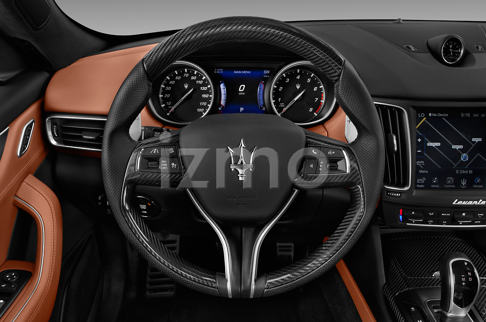 Car pictures of steering wheel view of a 2017 Maserati Levante Base 5 Door SUV