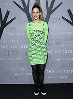 "09 January 2020 - West Hollywood, California - Genevieve Hudson Price. Premiere Of HBO's ""The Outsider"" - Los Angeles  held at DGA Theater. Photo Credit: Birdie Thompson/AdMedia"