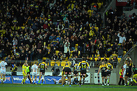 Willis Halalholo opens the scoring during the Super Rugby semifinal match between the Hurricanes and Chiefs at Westpac Stadium, Wellington, New Zealand on Saturday, 30 July 2016. Photo: Dave Lintott / lintottphoto.co.nz