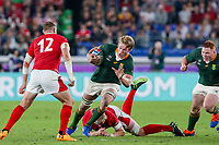 27th October 2019, Oita, Japan;  Pieter-Steph du Toit of South Africa during the 2019 Rugby World Cup semi-final match between Wales and South Africa at International Stadium Yokohama in Kanagawa, Japan on October 27, 2019.  - Editorial Use