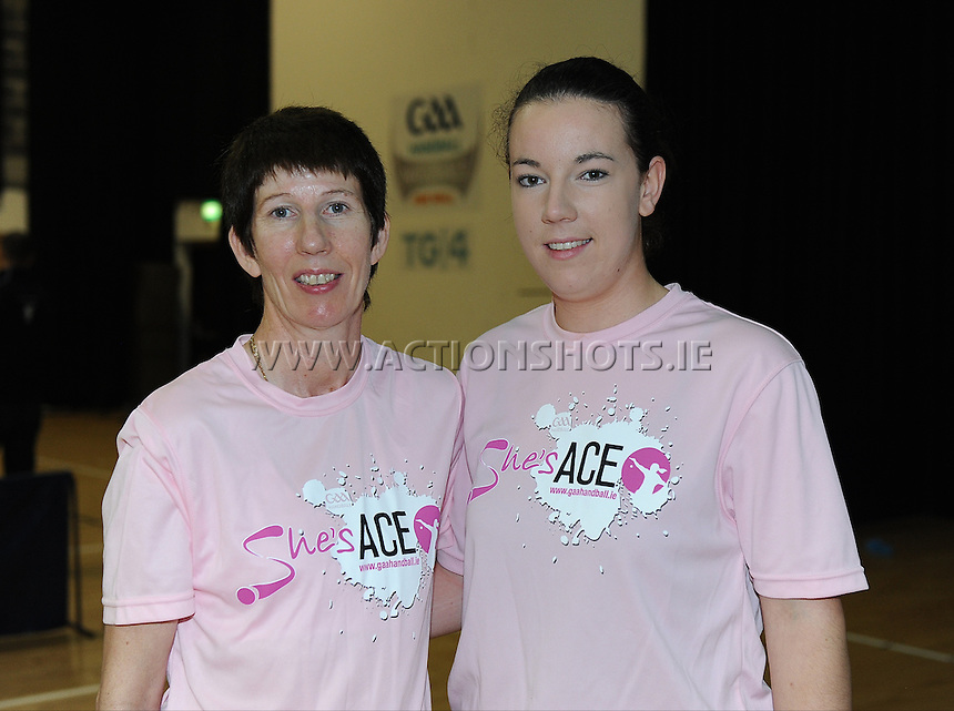17th November 2013; Bairbre and Sinead Hanley. She's Ace - Women in handball event, Breaffy House Sports Arena, Castlebar, Co Mayo. Picture credit: Tommy Grealy/actionshots.ie.