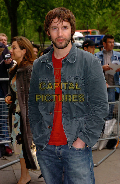 JAMES BLUNT.The Ivor Novello Awards at Grosvenor House, Park Lane, London, UK..May 25th, 2006.Ref: CAN.half length blue jacket beard facial hair.www.capitalpictures.com.sales@capitalpictures.com.©Capital Pictures