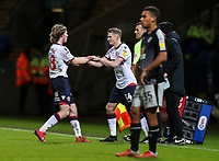 Bolton Wanderers' Luca Connell is substituted by team mate Joe Pritchard  <br /> <br /> Photographer Andrew Kearns/CameraSport<br /> <br /> The EFL Sky Bet Championship - Bolton Wanderers v Reading - Tuesday 29th January 2019 - University of Bolton Stadium - Bolton<br /> <br /> World Copyright © 2019 CameraSport. All rights reserved. 43 Linden Ave. Countesthorpe. Leicester. England. LE8 5PG - Tel: +44 (0) 116 277 4147 - admin@camerasport.com - www.camerasport.com