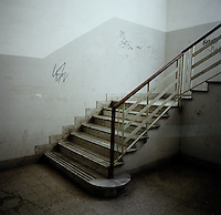 An empty stairwell in a technical high school in Naples, Italy...PHOTOS/ MATT NAGER