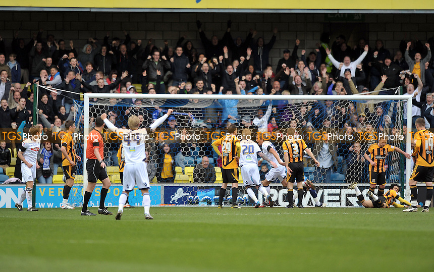 Harry Kane opens the scoring for Millwall. - Millwall vs Hull City - nPower Championship Football at the New Den, London -7th April 2012 - MANDATORY CREDIT: Martin Dalton/TGSPHOTO - Self billing applies where appropriate - 0845 094 6026 - contact@tgsphoto.co.uk - NO UNPAID USE.
