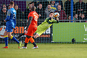 5th November 2017, Damson Park, Solihull, England; FA Cup first round, Solihull Moors versus Wycombe Wanderers; Charlie Bannister of Solihull Moors saves a shot