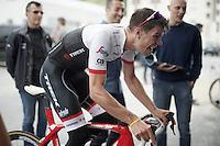 virtual (international) group-ride with Team trek-Segafredo ahead of the 2016 Tour de France via the ZWIFT training/online game with Jasper Stuyven (BEL/Trek-Segafredo) working himself in a sweat on the rollers