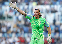 Calcio, finale di Coppa Italia: Roma vs Lazio. Roma, stadio Olimpico, 26 maggio 2013..Lazio goalkeeper Federico Marchetti gestures during the Italian Cup football final match between AS Roma and Lazio at Rome's Olympic stadium, 26 May 2013..UPDATE IMAGES PRESS/Isabella Bonotto....