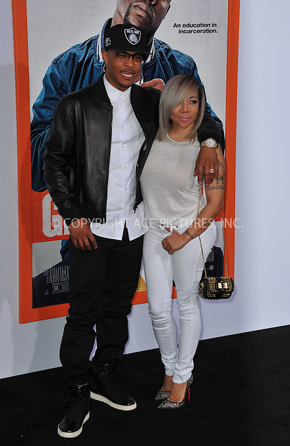 WWW.ACEPIXS.COM<br /> <br /> March 25 2015, LA<br /> <br /> Actor Clifford 'TI' Harris and Tameka Cottle attending the premiere of 'Get Hard' at the TCL Chinese Theatre IMAX on March 25, 2015 in Hollywood, California.<br /> <br /> By Line: Peter West/ACE Pictures<br /> <br /> <br /> ACE Pictures, Inc.<br /> tel: 646 769 0430<br /> Email: info@acepixs.com<br /> www.acepixs.com