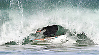 Surfer,  Locked in Curl, Morro Bay, San Luis Obispo county, California