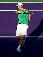 Tomas BERDYCH (CZE) against Fernando VERDASCO (ESP) in the quarter finals of the men's singles. Tomas Berdych beat Fernando Verdasco 4-6 7-6 6-4..International Tennis - 2010 ATP World Tour - Sony Ericsson Open - Crandon Park Tennis Center - Key Biscayne - Miami - Florida - USA - Thu 1 Apr 2010..© Frey - Amn Images, Level 1, Barry House, 20-22 Worple Road, London, SW19 4DH, UK .Tel - +44 20 8947 0100.Fax -+44 20 8947 0117