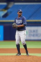 Tampa Bay Rays pitcher Jose Mujica (40) during an instructional league game against the Boston Red Sox on September 24, 2015 at Tropicana Field in St Petersburg, Florida.  (Mike Janes/Four Seam Images)