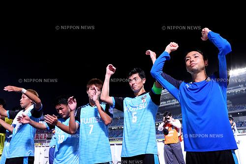Kawasaki Frontale team group (Frontale), <br /> AUGUST 23, 2017 - Football / Soccer : <br /> AFC Champions League 2017 Quarter-final 1st leg <br /> match between Kawasaki Frontale *-* Urawa Reds <br /> at Kawasaki Todoroki Stadium, Kanagawa, Japan. <br /> (Photo by Naoki Nishimura/AFLO SPORT)