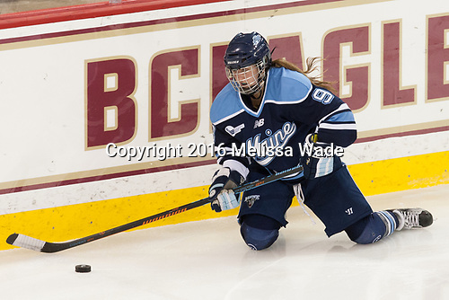 Mikayla Rogers (Maine - 9) - The Boston College Eagles defeated the visiting University of Maine Black Bears 2-1 on Saturday, October 8, 2016, at Kelley Rink in Conte Forum in Chestnut Hill, Massachusetts.  The University of North Dakota Fighting Hawks celebrate their 2016 D1 national championship win on Saturday, April 9, 2016, at Amalie Arena in Tampa, Florida.