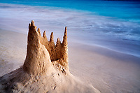 Remains of a snad castle. Kailua Beach Park, Oahu, Hawaii