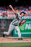 20 May 2018: Los Angeles Dodgers pitcher Erik Goeddel on the mound against the Washington Nationals at Nationals Park in Washington, DC. The Dodgers defeated the Nationals 7-2, sweeping their 3-game series. Mandatory Credit: Ed Wolfstein Photo *** RAW (NEF) Image File Available ***