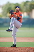 GCL Astros pitcher Heitor Tokar (70) during a Gulf Coast League game against the GCL Marlins on August 8, 2019 at the Roger Dean Chevrolet Stadium Complex in Jupiter, Florida.  GCL Astros defeated GCL Marlins 4-2.  (Mike Janes/Four Seam Images)