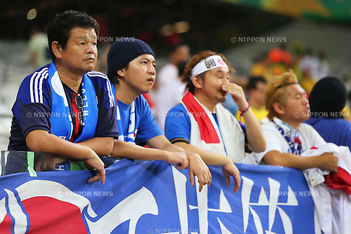 Japan Fans (JPN), <br /> June 22, 2013 - Football / Soccer : <br /> FIFA Confederations Cup Brazil 2013, Group A <br /> match between Japan 1-2 Mexico <br /> at Estadio Mineirao, Belo Horizonte, Brazil. <br /> (Photo by Daiju Kitamura/AFLO SPORT) [1045]