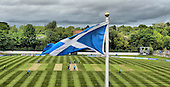 CB40 Cricket - Saltires V Durham at Grange CC Edinburgh - the Saltire flutters in the wind blowing over the ground during Dynamos batting innings - Picture by Donald MacLeod - 16.05.11 - 07702 319 738 - www.donald-macleod.com - clanmacleod@btinternet.com