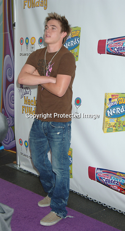 Jesse McCartney..at The Willy Wonka Funday at Dylan's Candy Bar on ..June 14, 2006.  Jesse McCartney joined Willy Wonka ..and The Oompa Loompas to unveil Wonka's new SweeTARTS Squeez and Sour Nerds to the public...Robin Platzer, Twin Images